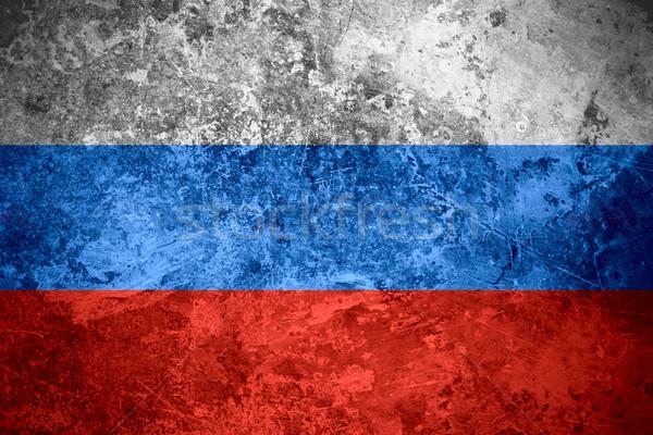 Bandeira Rússia russo bandeira vintage textura do metal Foto stock © MiroNovak