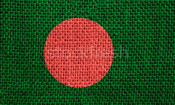 Zászló Banglades szalag vászon textúra Stock fotó © MiroNovak