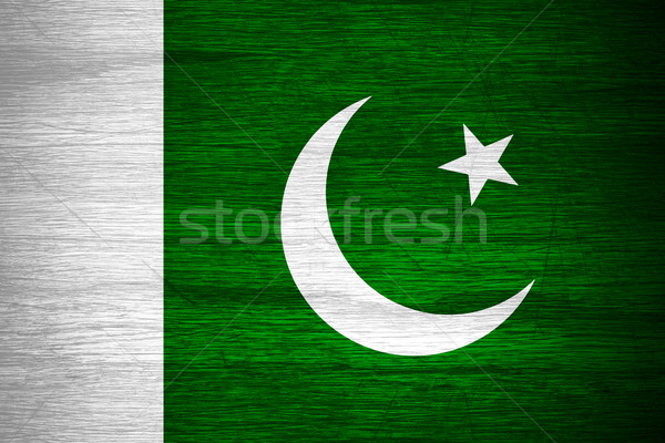 Pakisztán zászló pakisztáni szalag fából készült textúra Stock fotó © MiroNovak