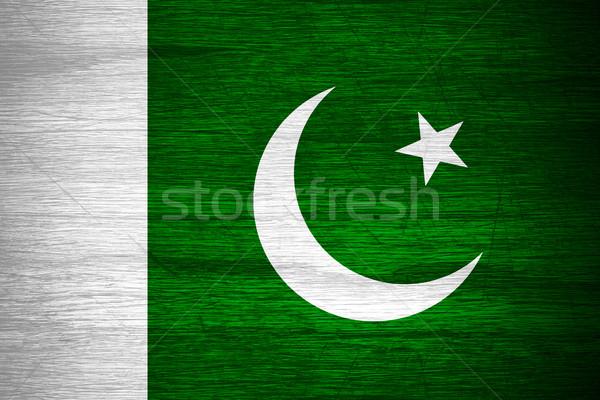 Пакистан флаг пакистанский баннер текстуры Сток-фото © MiroNovak