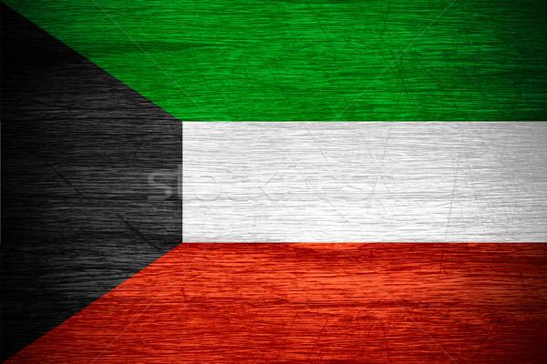 Kuwait bandiera banner legno texture Foto d'archivio © MiroNovak