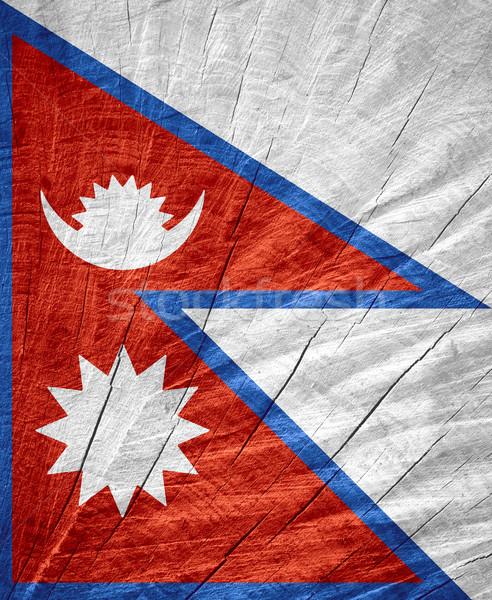 Bandera Nepal banner textura Foto stock © MiroNovak