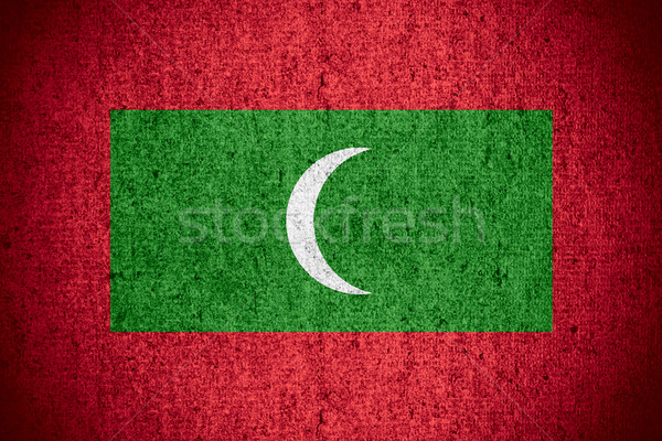 flag of Maldives Stock photo © MiroNovak