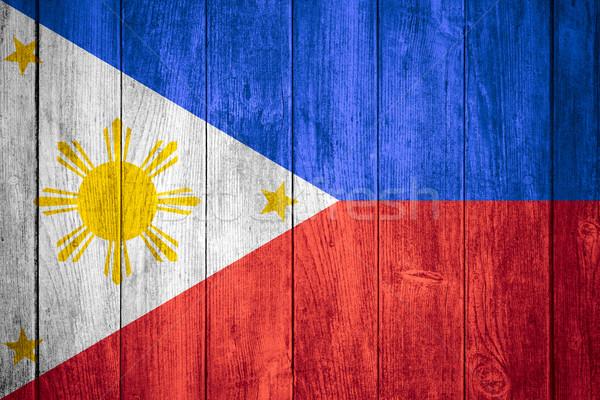 Foto stock: Bandeira · branco · amarelo · azul · vermelho · bandeira