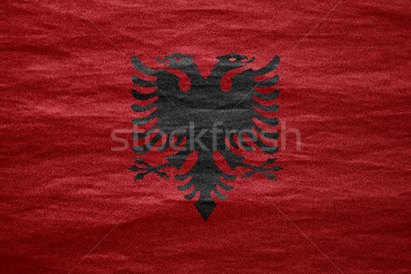 flag of Albania Stock photo © MiroNovak