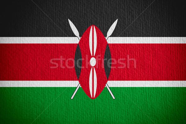 Banderą Kenia banner papieru Zdjęcia stock © MiroNovak