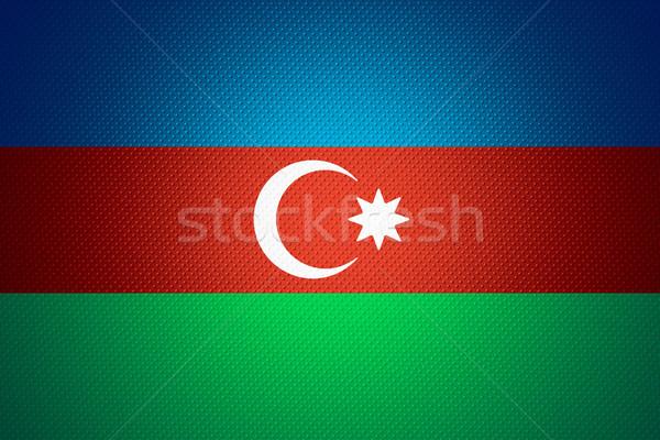 Bandera Azerbaiyán banner resumen textura Foto stock © MiroNovak