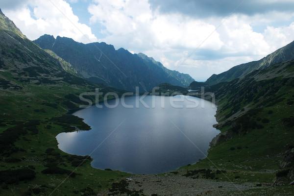 Völgy öt égbolt természet tájkép sziluett Stock fotó © MiroNovak