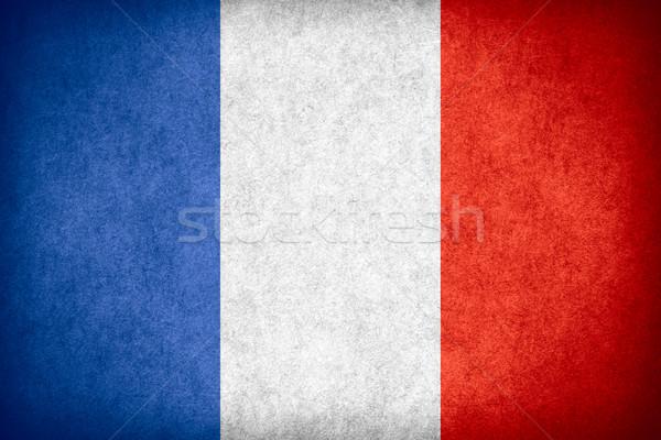 Stok fotoğraf: Bayrak · Fransa · fransız · afiş · kâğıt · kaba