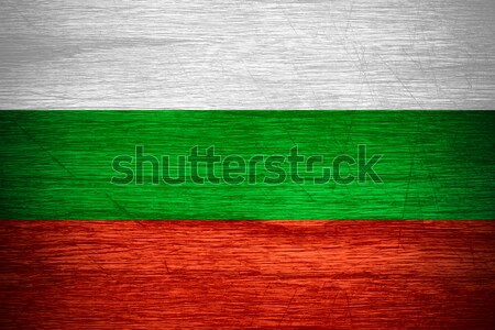 Zászló Bulgária szalag fából készült textúra Stock fotó © MiroNovak