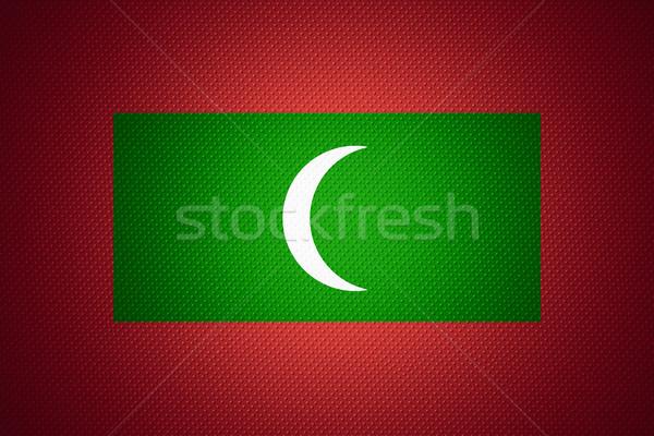 Bandiera Maldive banner abstract texture Foto d'archivio © MiroNovak