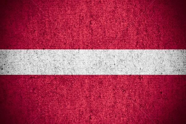Vlag Letland banner ruw patroon textuur Stockfoto © MiroNovak