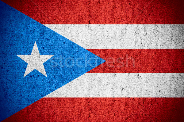 Stockfoto: Vlag · Puerto · Rico · banner · ruw · patroon · textuur