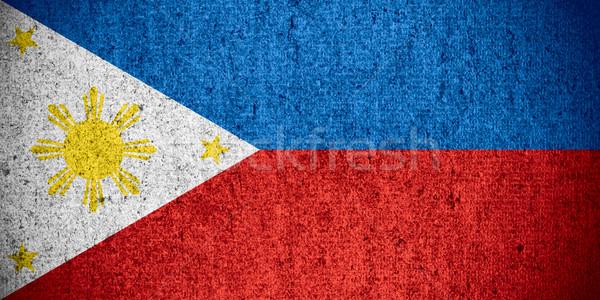 Bayrak Filipinler afiş kaba model doku Stok fotoğraf © MiroNovak