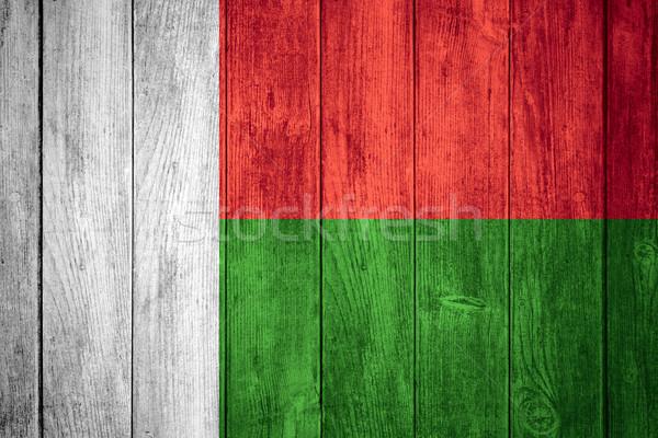 フラグ マダガスカル 白 緑 赤 バナー ストックフォト © MiroNovak