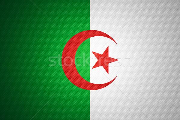 флаг Алжир баннер аннотация текстуры Сток-фото © MiroNovak