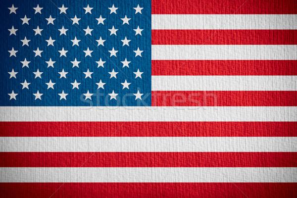 Zászló Egyesült Államok amerikai szalag papír textúra Stock fotó © MiroNovak