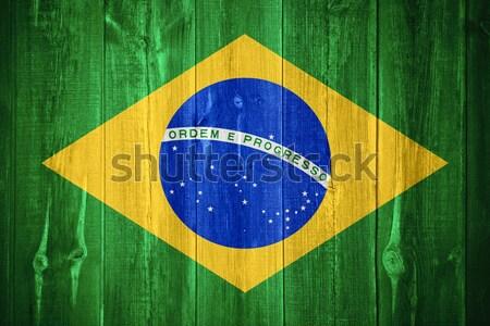 Banderą Brazylia banner papieru tekstury Zdjęcia stock © MiroNovak