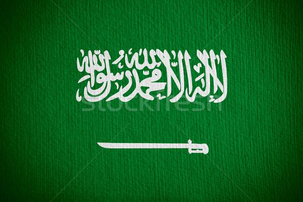 Bayrak Suudi Arabistan afiş kâğıt Stok fotoğraf © MiroNovak
