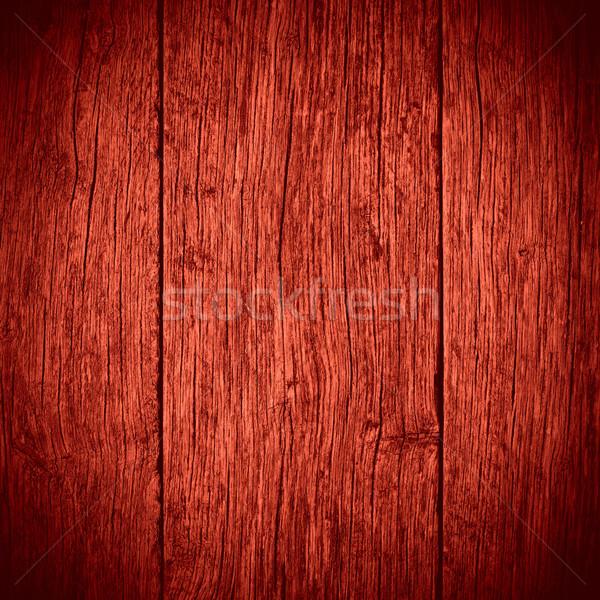 öreg piros deszkák fából készült forgács textúra Stock fotó © MiroNovak