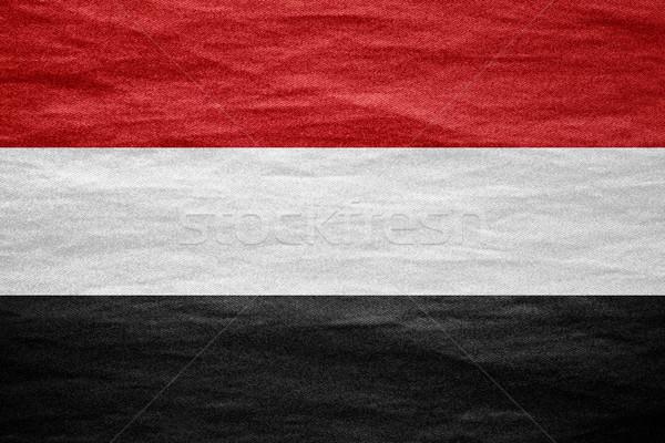 Bandeira Iémen bandeira lona textura fundo Foto stock © MiroNovak