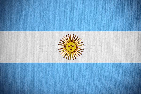 Zászló Argentína argentín szalag papír Stock fotó © MiroNovak