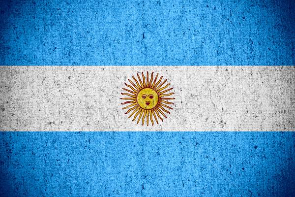 флаг Аргентина баннер грубо шаблон текстуры Сток-фото © MiroNovak