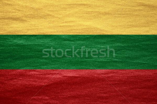 フラグ リトアニア バナー キャンバス テクスチャ 背景 ストックフォト © MiroNovak