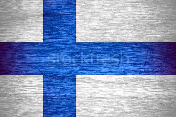 Bandeira Finlândia bandeira textura Foto stock © MiroNovak