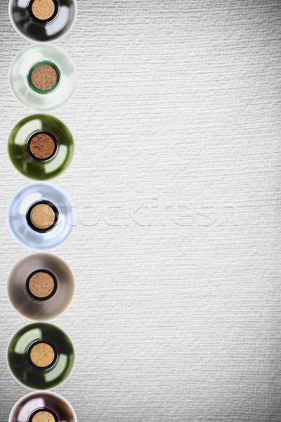 wine bottles on pattern paper background Stock photo © MiroNovak