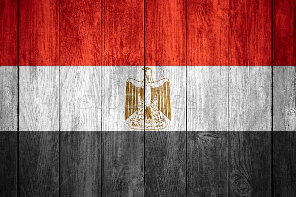 Zászló Egyiptom piros fehér fekete egyiptomi Stock fotó © MiroNovak