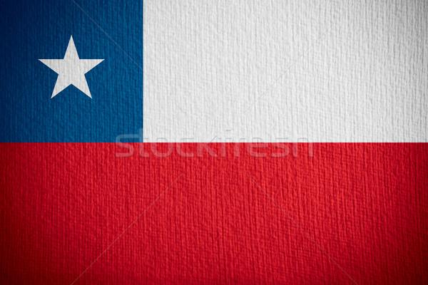 Zászló Chile szalag papír textúra Stock fotó © MiroNovak