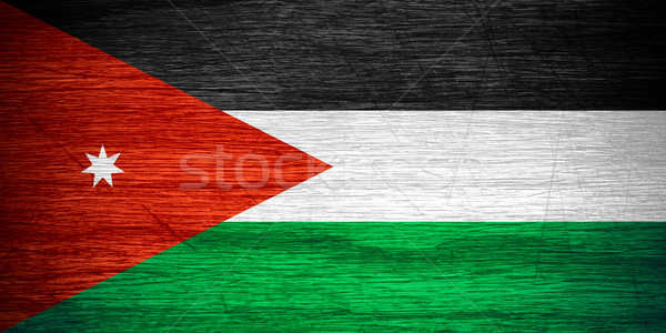 flag of Jordan Stock photo © MiroNovak