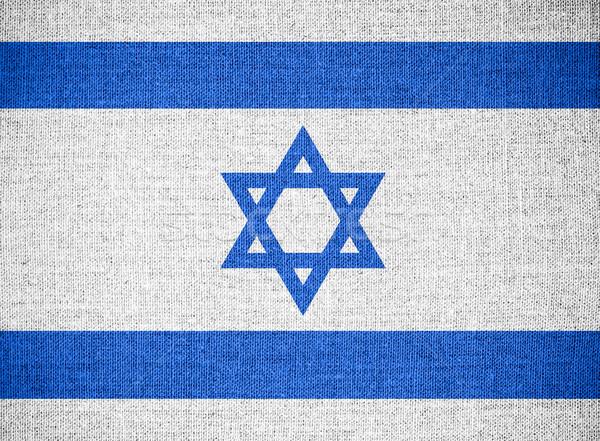 флаг Израиль израильский баннер холст текстуры Сток-фото © MiroNovak