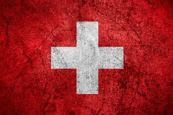 Bayrak İsviçre afiş kaba Metal doku Stok fotoğraf © MiroNovak
