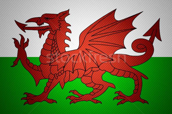 Zászló Wales szalag absztrakt textúra Stock fotó © MiroNovak