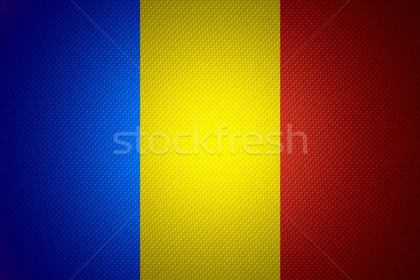 Bandera Chad banner resumen textura Foto stock © MiroNovak