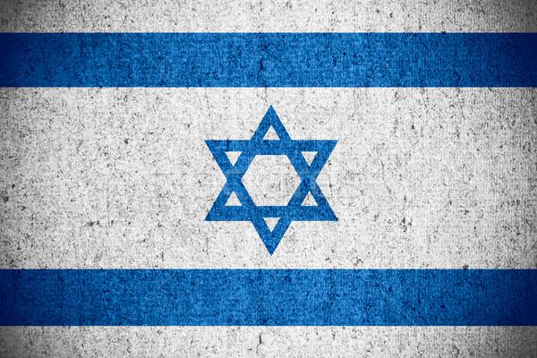 Bayrak İsrail İsrailli afiş kaba model Stok fotoğraf © MiroNovak