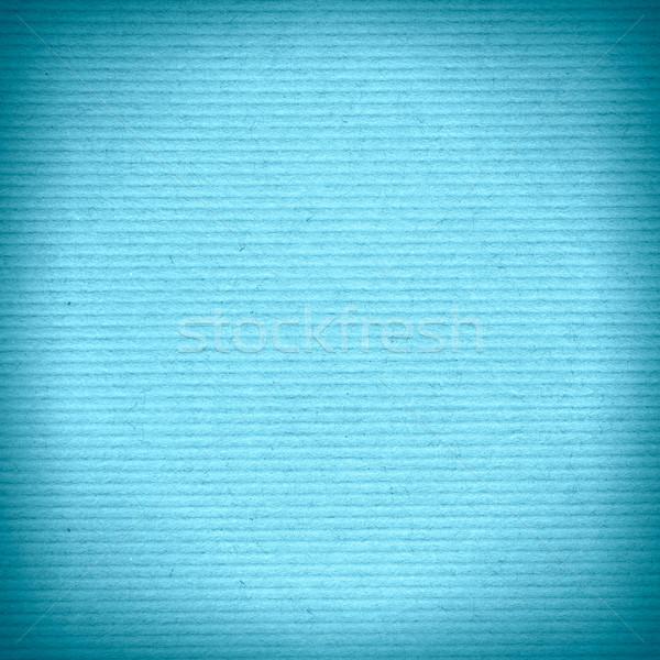 Blauw papier ruw patroon turkoois karton Stockfoto © MiroNovak