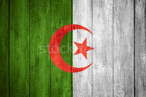 Stockfoto: Vlag · Algerije · witte · groene · Rood · banner