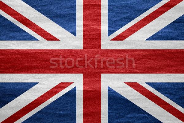 フラグ イギリス 英国の バナー キャンバス テクスチャ ストックフォト © MiroNovak