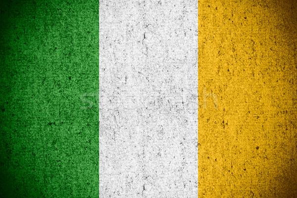 Bandera Irlanda irlandés banner áspero patrón Foto stock © MiroNovak