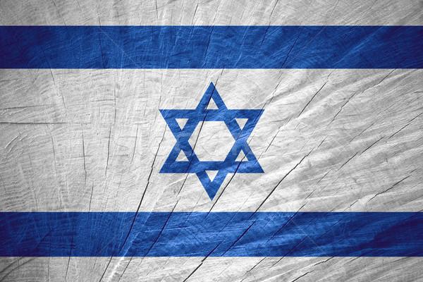 Bayrak İsrail İsrailli afiş ahşap doku Stok fotoğraf © MiroNovak