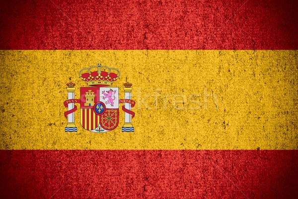 フラグ スペイン スペイン語 バナー ラフ パターン ストックフォト © MiroNovak