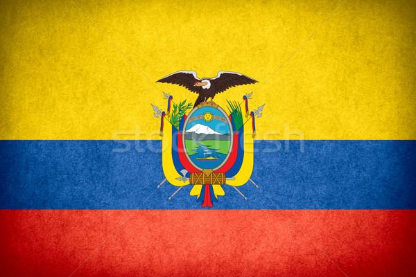 Vlag Ecuador banner papier ruw patroon Stockfoto © MiroNovak