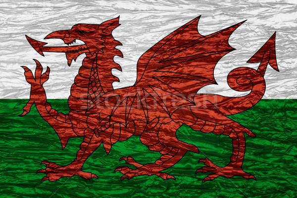 Bandera gales banner lienzo textura Foto stock © MiroNovak