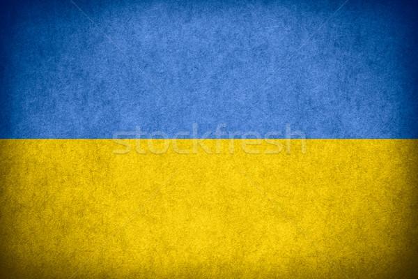 Bandeira Ucrânia bandeira papel áspero padrão Foto stock © MiroNovak