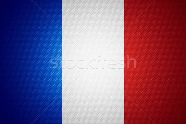 Zászló Franciaország francia szalag fából készült textúra Stock fotó © MiroNovak