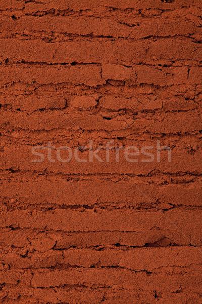 Abstract bruin horizontaal poeder textuur Stockfoto © MiroNovak