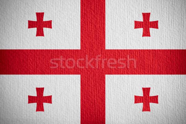 flag of Georgia Stock photo © MiroNovak
